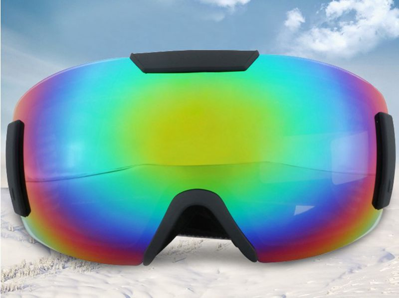 Alta qualità! Occhiali Da Sci Uomini Donne Doppia Lente UV400 Anti fog Occhiali Da Snowboard Sci Grande Maschera Neve Eyewear, trasporto libero