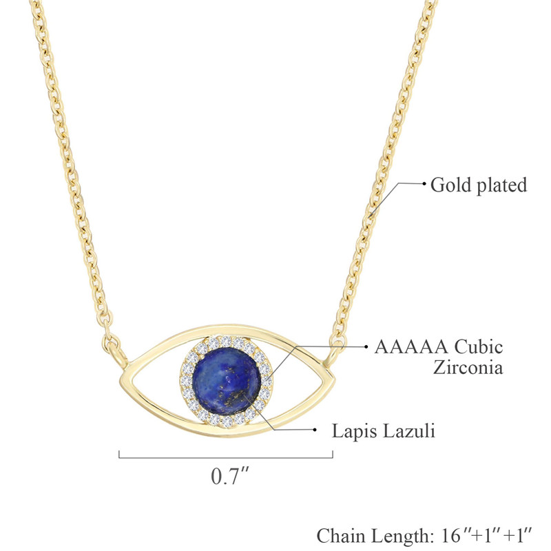 Gold-Plated-CZ-Paved-Charm-Necklace-Blue (1)
