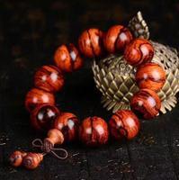 Бесплатная доставка Венера очаговая красного сандалового дерева 18 мм изысканный тигр браслет любителей моды высокого класса Украшения