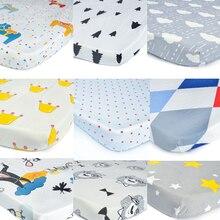 Egmaoaby, хлопок, простыня для кроватки, мягкий матрас для детской кровати, защитный чехол, мультяшное постельное белье для новорожденных, для кроватки, размер 130*70 см