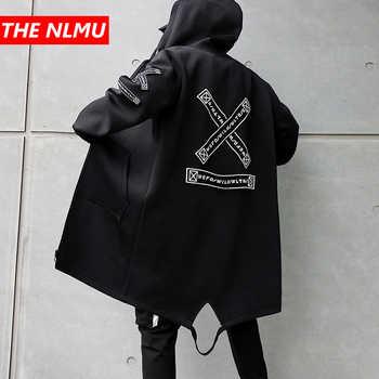 Long Jacket Men Print Fashion 2019 Spring Harajuku Windbreaker Overcoat Male Casual Outwear Hip Hop Streetwear Coats WG198 - DISCOUNT ITEM  35% OFF All Category