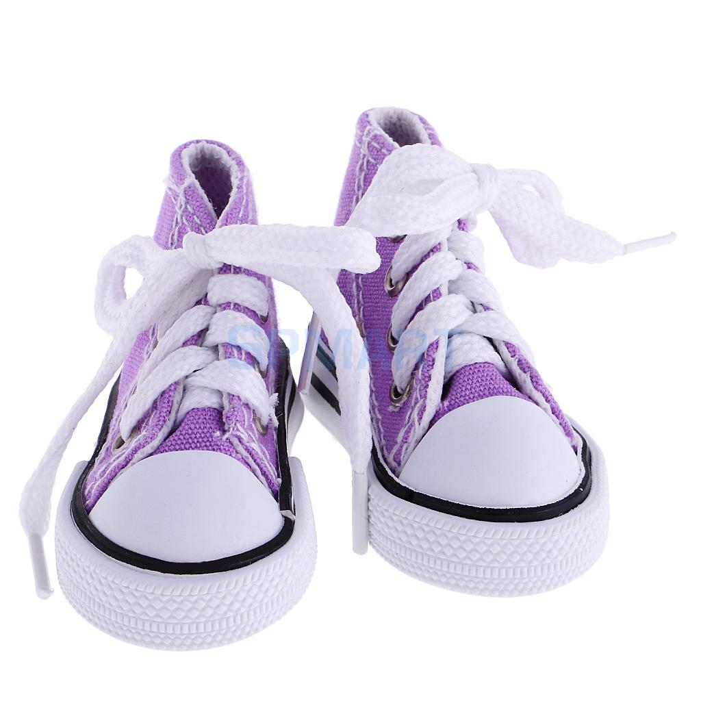 5x 1 Pair Lace Up Canvas Sneaker Sport Shoes for 1//4 BJD SD Dollfie Doll Pink