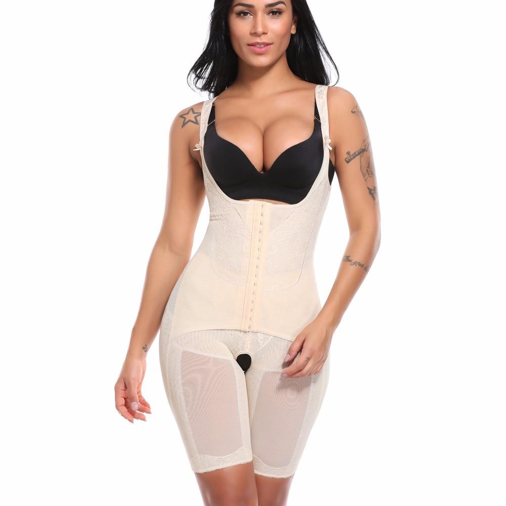 582db38f20 Womens Slimming Full Body Shaper Corrective Underwear Shapewear Tummy  Control Panties Underbust Waist Corsets Bodysuit Girdles