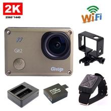 GitUp Git2 WiFi 2K Novatek96660 Sports Action Camera+Extra 1pcs Battery+Battery Charger+Remote Control+ Housing Side Frame Mount