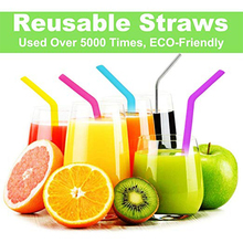 Reusable Silicone drink Straws for 30 & 20 oz Tumblers mugs – (6 silicone + stainless steel Straw +2 Cleaning Brushes)