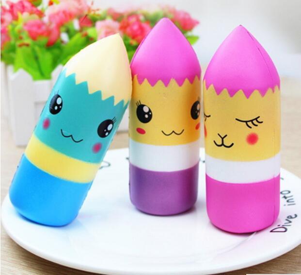 5 pcs/lot Doux Visqueux Kawaii Crayon Jumbo Jouet Lente Hausse pour Enfants Adultes Soulage Le Stress Lanxiété Décoration de La Maison Modèle