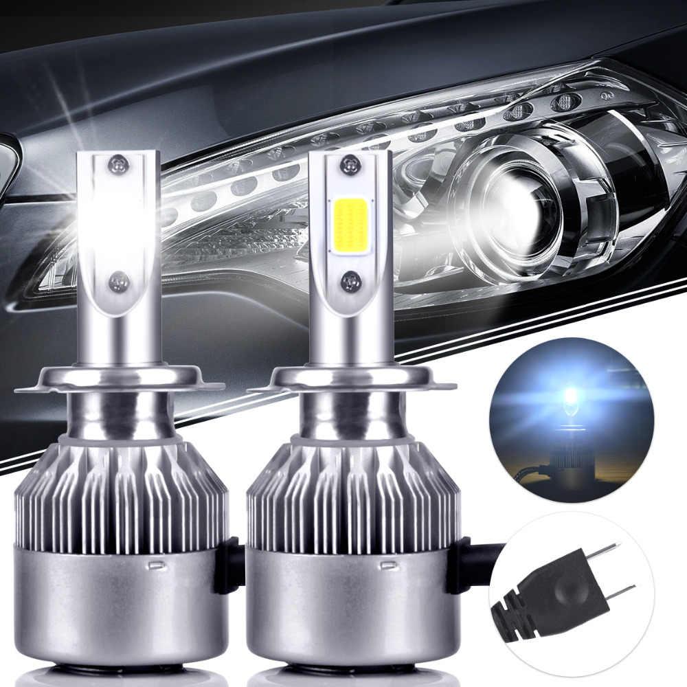 2Pcs H7 COB Car LED Headlights Bulb High Low Beam 3600LM 72W For Mercedes  Benz W211 W210 W124 W212 W204 W203 W205 W220 W221