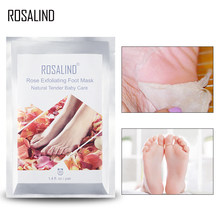 ROSALIND Exfoliating Foot Mask Pedicure Socks Feet Mask Remove Dead Skin 2pc=1pair detox foot patch cream Mask for feet(China)