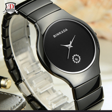 Full Ceramic watch Fashion Men Women Quartz Watches relojes mujer BINKADA Brand Luxury Wristwatches Girl Elegant Dress Clock