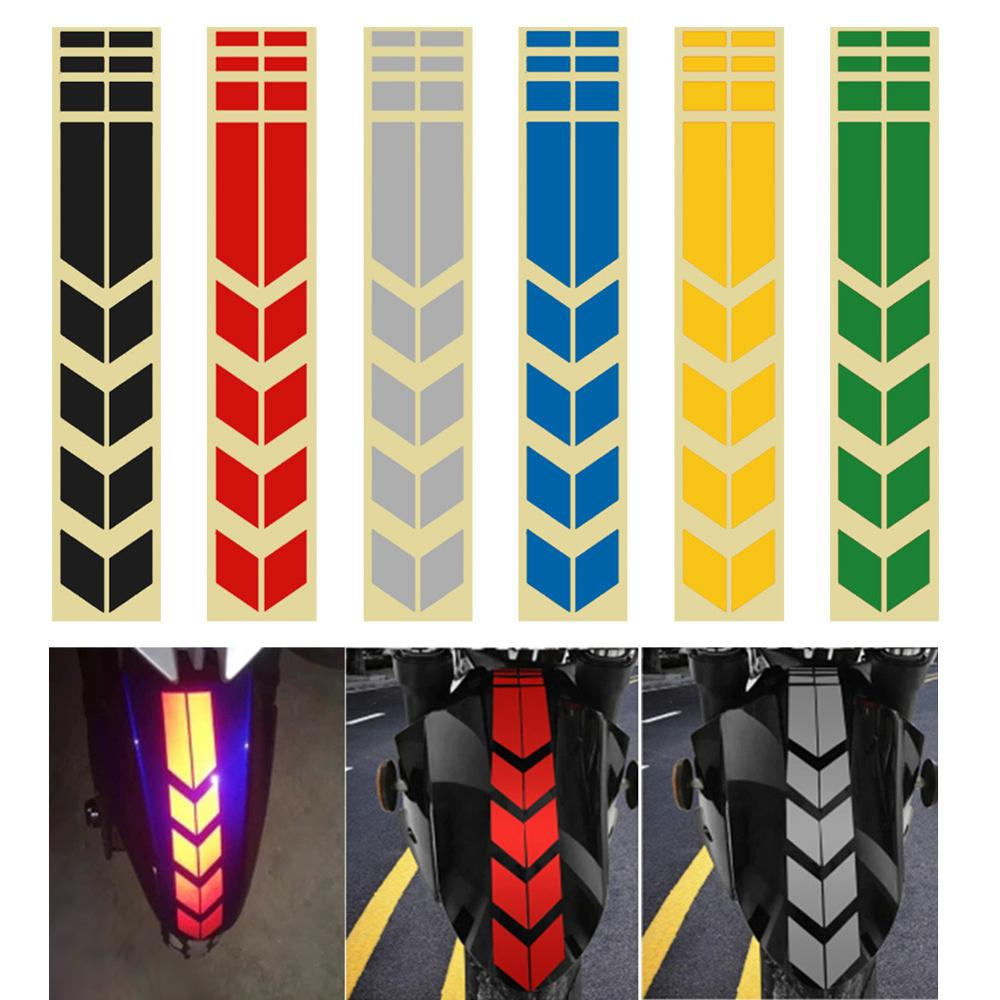 Moto Stickers And Decals On Bike Bicycle Fender Motorcycle Accessories Motorcycle Reflective Sticker Decoration Road Safety