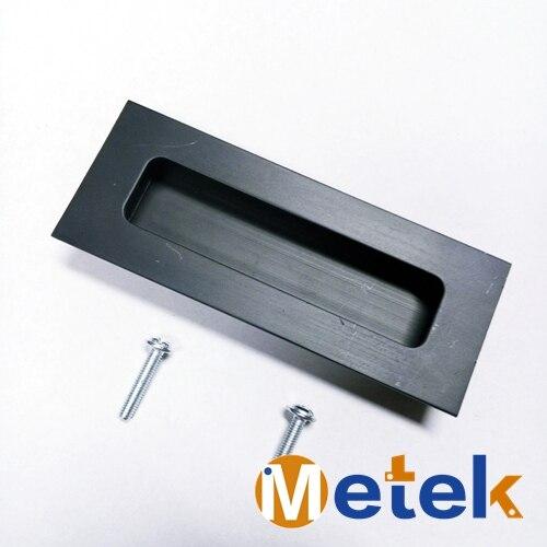 """1-4 Pack 8/"""" COULISSANTE porte de grange cylindrique poignée fonte Pull Grille noir mat"""