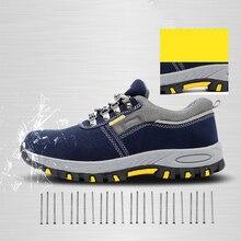 Новые стильные сверхпрочные кроссовки, безопасная рабочая обувь, дышащая, противоскользящая, прокалывающая, для мужчин, Уличная обувь для строительства