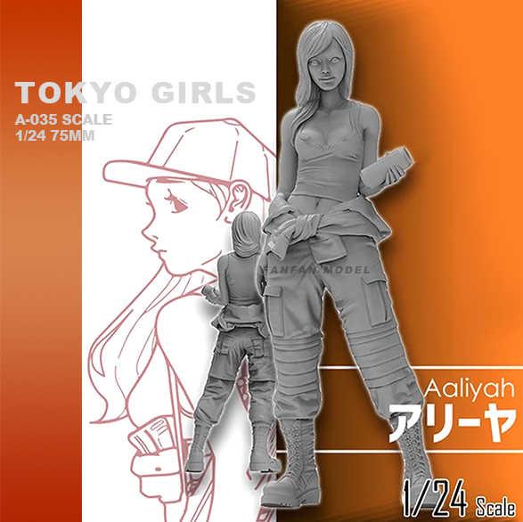 weizhang 1//35 Tokyo Beautiful Girl Resin Soldier 5cm statico Fai da Te Modello in Resina autoassemblante