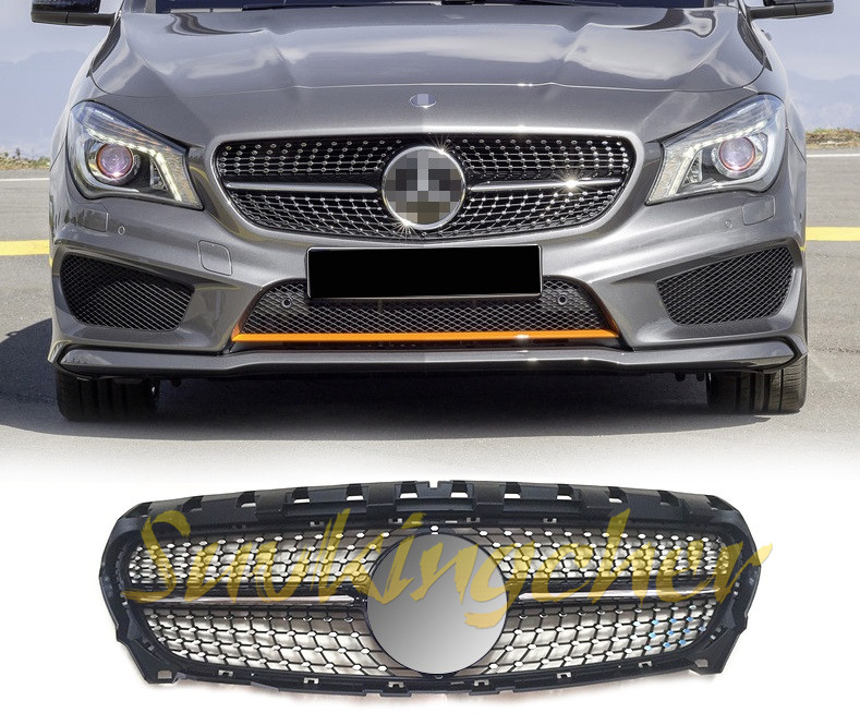 Chrome Auto Front Grill Grille Mesh For Mercedes Benz B: ABS Chrome Fit For Mercedes Benz CLA W117 2013 2014 2015