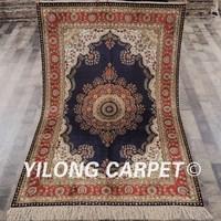 YILONG 4'x6' Persian luxury silk carpet blue vantage durable turkish rugs for sale (LH873B4x6)