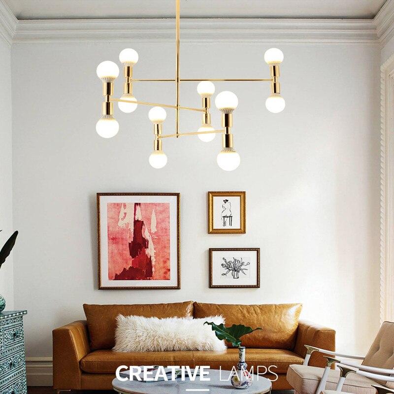 Lampe pendante design moderne italie Art créatif salle à manger doré suspension barre de LED chambre d'hôtel Dec Light livraison gratuite