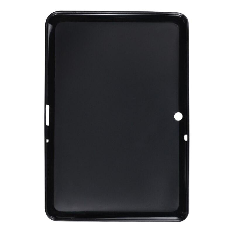 Tab2 10.1 polegada de silicone inteligente tablet capa traseira para samsung galaxy tab 2 10.1 p5100 p5110 p7500 p7510 à prova choque caso pára-choques