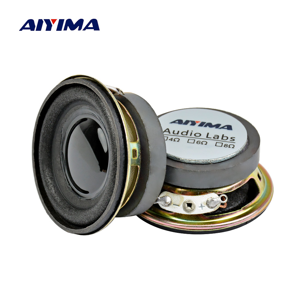 Aiyima 2 Pcs 2 Zoll Mini Audio Tragbare Lautsprecher 45mm 4ohm 3 W Hochtöner Höhen Diy Musik Bluetooth Lautsprecher Heimkino Sound System