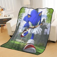 New Arrival Sonic the Hedgehog koce drukowanie miękkie Nap koc na Home/Sofa/biuro przenośny podróży pokrywa koc w Narzuty od Dom i ogród na