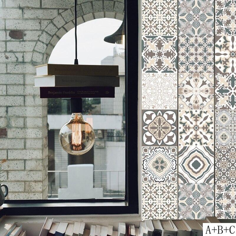 Водонепроницаемый ПВХ обои классика Европейского Стиль стены наклейки Плитки клей Ванная комната туалет мебели наклейка