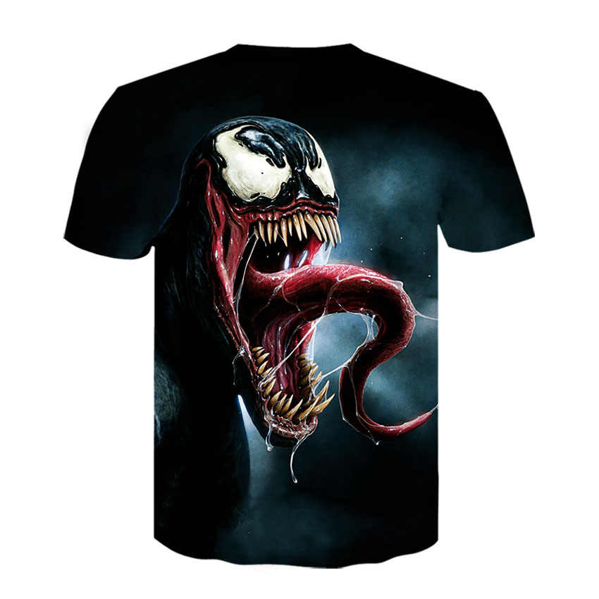 2019 летняя Новинка Venom 3D пользовательские печатные мужские футболки Повседневная рубашка с коротким рукавом Фитнес Футболка мужские топы для тяжелой атлетики базовый слой