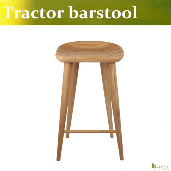 Free shipping U-BEST Craig Bassam Tractor Counter Stool,Creative designer bar chair made in solid ash wood купить водныи велосипед craig cat