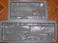 Plastic Molds for Concrete Plaster Wall Stone Tiles for Garden Decoration Wall Decoration 2pcs