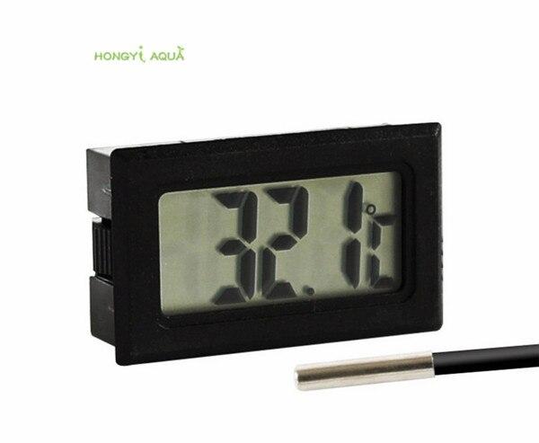 1 piece plastic small digital electronic thermometer aquarium temperature measurement electronic water temperature equipment