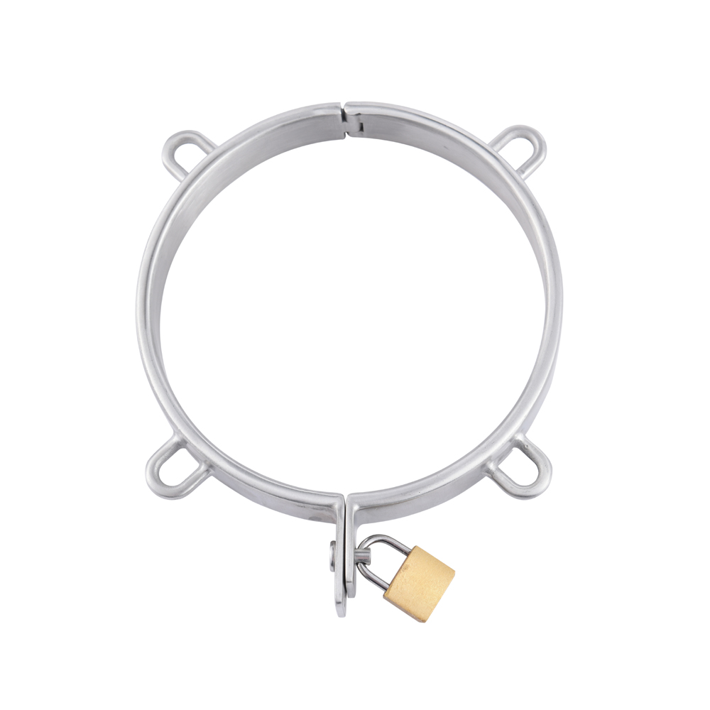 Dia132mm stainless steel Neck Collar pull ring Adult Slave Role Play metal For male SM restraint bondage Sex Game couple toy female stainless steel sex neck collar adult slave role play metal collar for women sex games couple