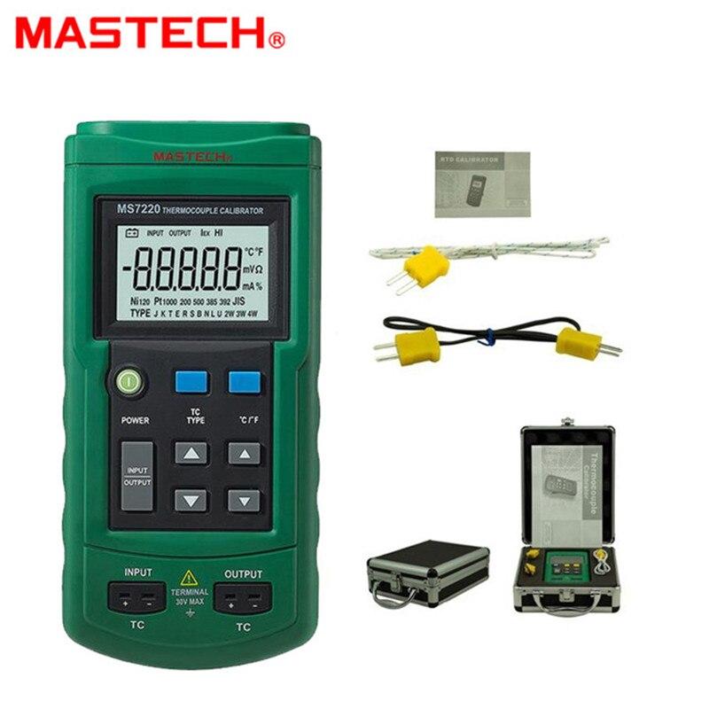 MASTECH MS7220 Professional Thermocouple Simulator Calibrator Tester Meter Thermocouple Measurement/Simulation Simulate