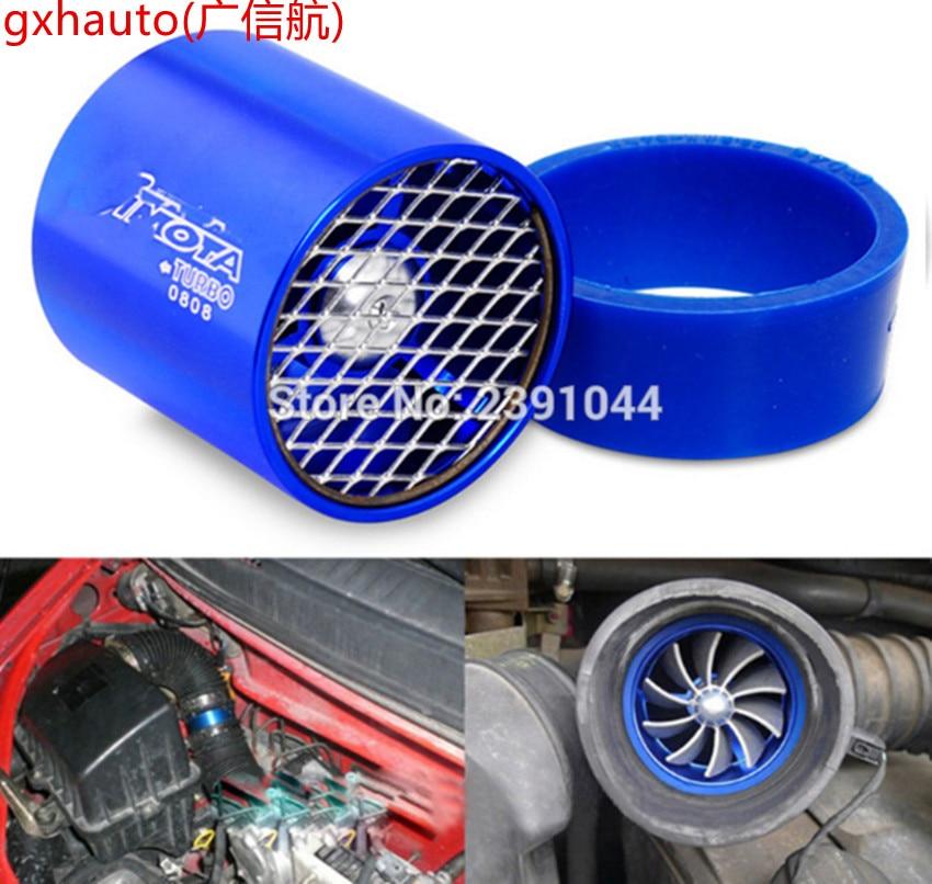 Dual Turbo Air Intake Gas Fuel Saver Fan Turbo Supercharger Universal Turbine Turbo Air Intake
