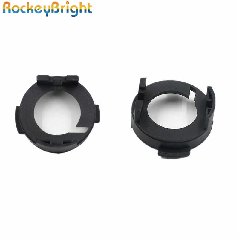 Rockeybright H7 Auto koplamp adapter voor KIA Carens voor Hyundai Mistra LED H7 Bulb Holder Adapter Socket Lampvoet retaner clip