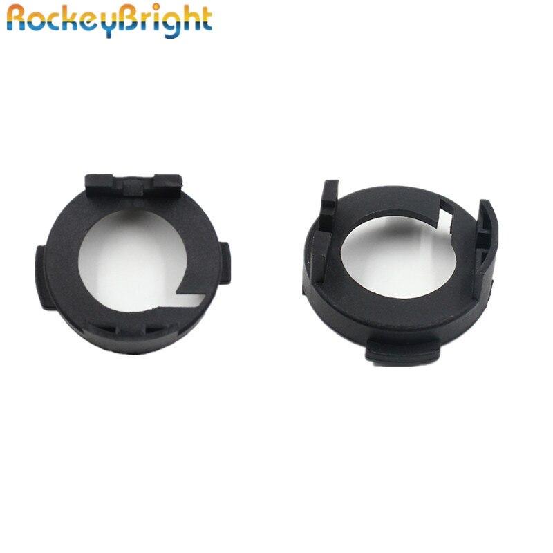 Rockeybright H7 Car Headlight Adapter For KIA Carens For Hyundai Mistra LED H7 Bulb Holder Adapter Socket Lamp Base Retaner Clip