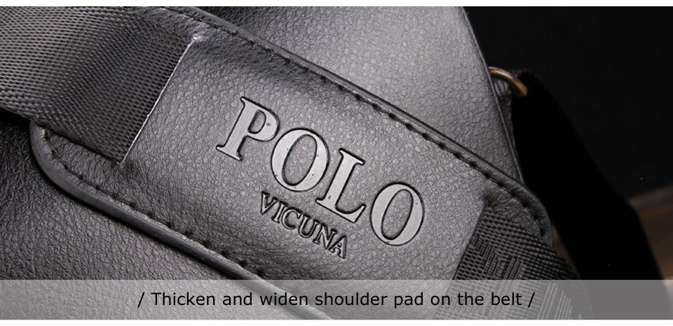 """Вики поло известный бренд кожа для мужчин сумка бизнес кожа для мужчин прошел с сумка Vintage для мужчин в арбалет стипендий """"больза"""" мешок мужской"""