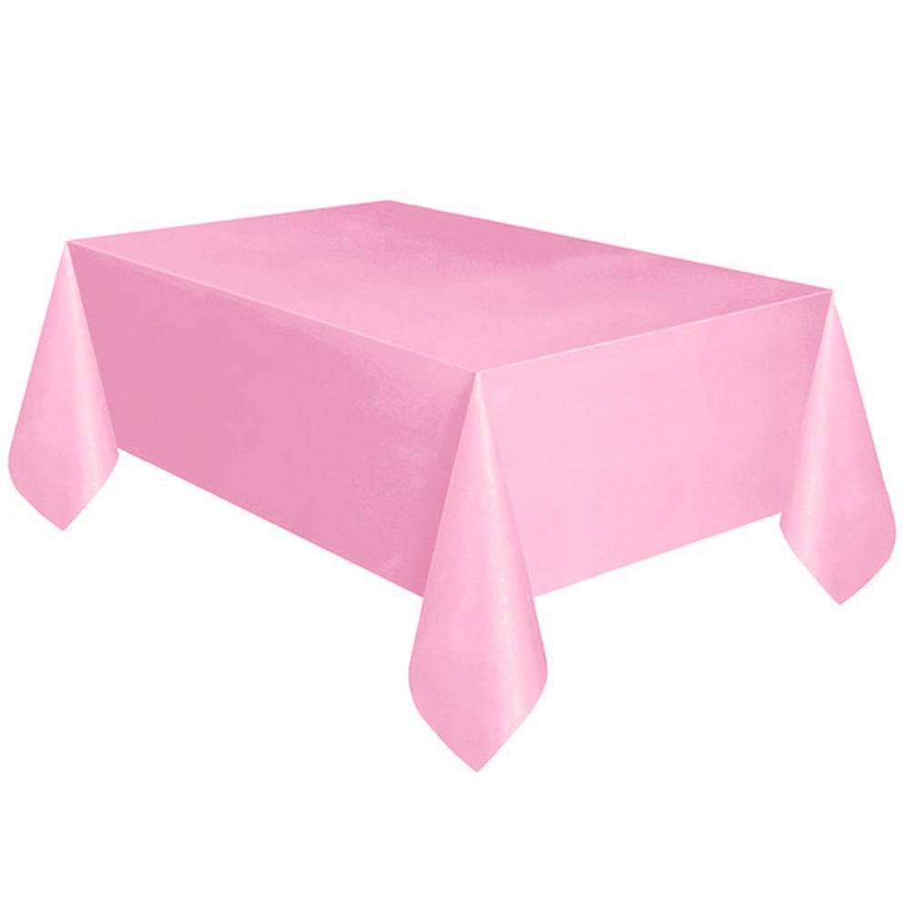 2 x Plastic Retangle Tablecloth Table Cover 137cm x 274cm Red Brand New