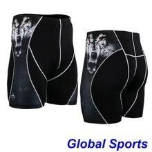 Шорты с принтом животных мужские спортивные шорты coolmax Быстросохнущий Спортивный сексуальный костюм с принтом головы тигра короткая одежда размер S-4XL
