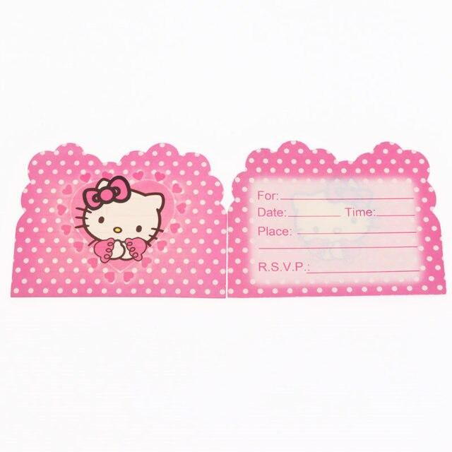10pcs/lot Hello Kitty Theme Invitation Card Invitations For Kids