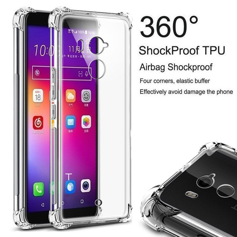 For HTC 10 Pro U11 X10 Clear Shockproof 360 Slim TPU Cover for HTC One M10 A9S U Play U Ultra Desire 12 Plus Ultra Thin TPU Case