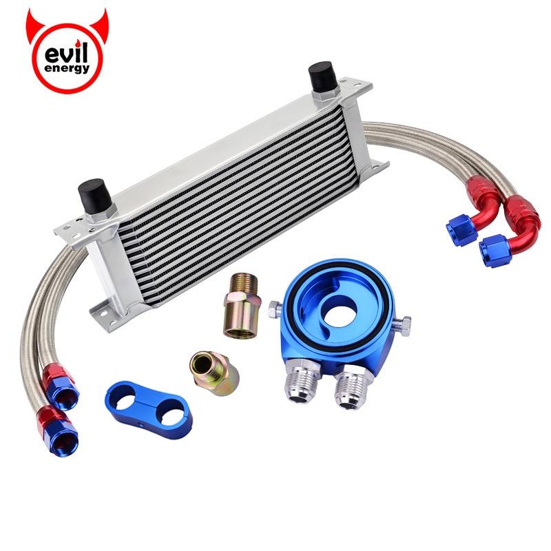 Energia do mal 13row an10 óleo de transmissão do motor kit refrigerador + calibre placa sensor mangueira combustível linha an10 seprator divisor braçadeira