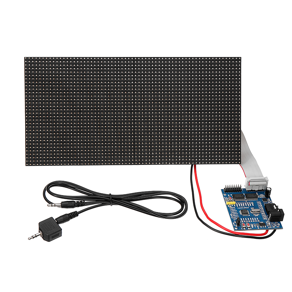 Dot Rectangle Board Analyzer Sound Waves Display 32X64 Assembled Colorful Multifunctional Music Spectrum LED Light DisplayDot Rectangle Board Analyzer Sound Waves Display 32X64 Assembled Colorful Multifunctional Music Spectrum LED Light Display