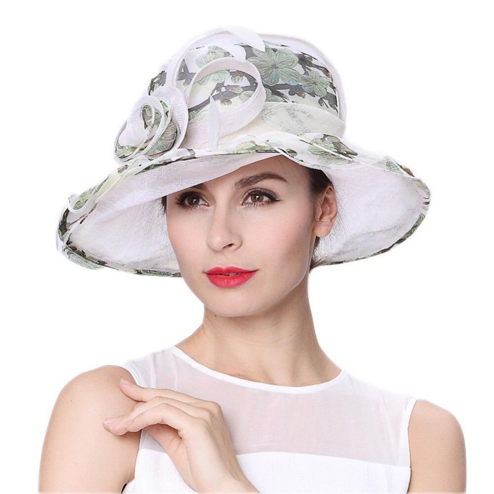 June's Young Women Hats Floral Pattern Elegant Lady Fresh ...