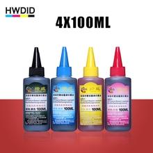 4×100 ml Universel Compatible Recharge Colorant Encre kit Pour HP pour Canon pour Frère pour Epson pour Lexmark pour DELL pour Kodak imprimante