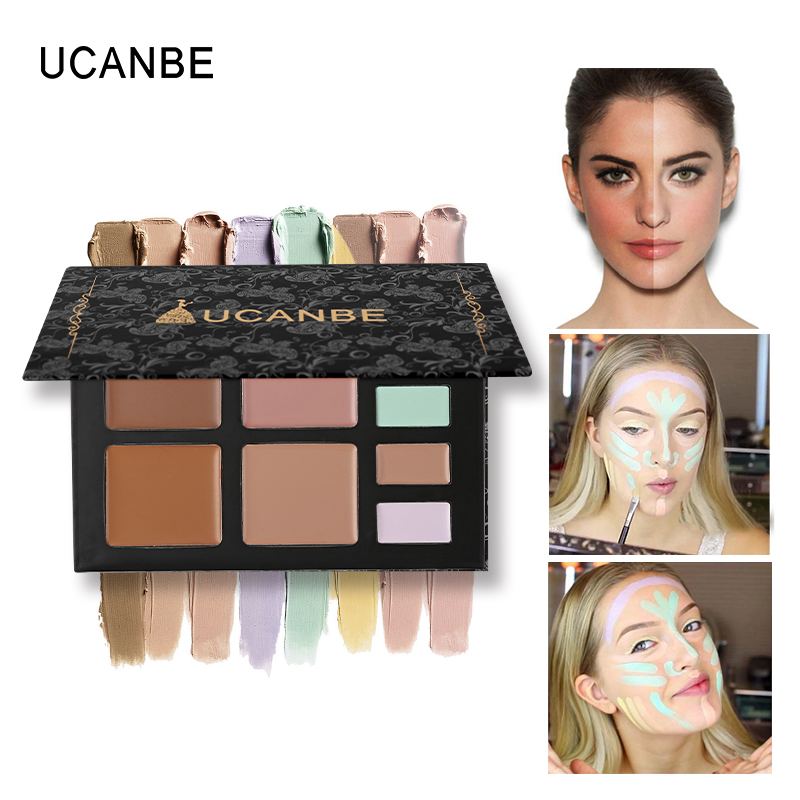 c051646e071d UCANBE 8 Couleur Crème Correcteur Corretor Palette Bronzeur Contour Visage  Maquillage des Yeux Couverture L acné Cernes Fondation Base Cosmétique dans  Bâton ...