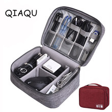 Qiaqu 2018 Baru Perjalanan Aksesoris Tas Tanggal Kabel Digital Finishing Casing Data Charger Kawat Tas Mp3 Earphone USB Flash Drive tas(China)