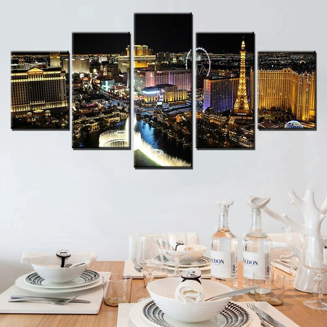 Panoramic Victoria Tower London Skyline At Night Large Wall Art ...