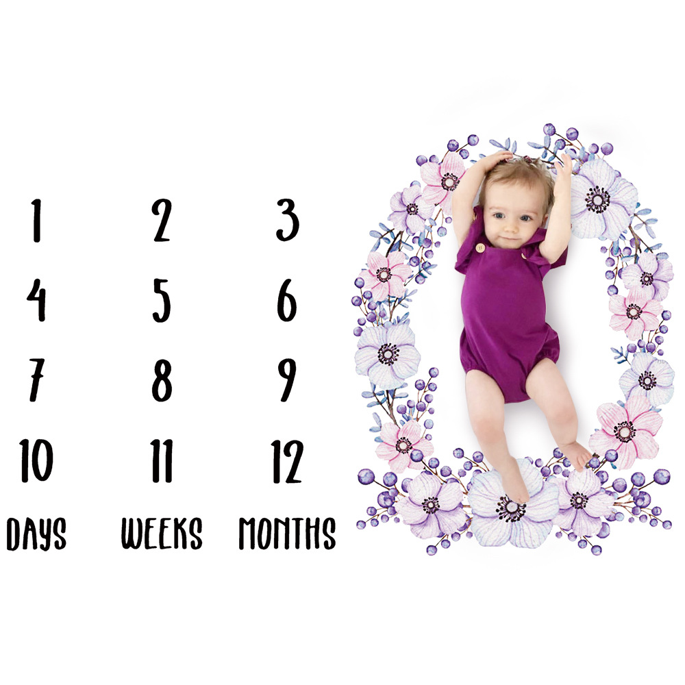 Calendar  Infant Baby Milestone Blanket Photography Props Months Weeks Backdrop Colorful Printed Pictures Cloth 100x100cmCalendar  Infant Baby Milestone Blanket Photography Props Months Weeks Backdrop Colorful Printed Pictures Cloth 100x100cm