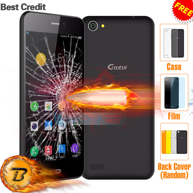 "Original Gretel A7 Quad Core Mobile Phone 4.7""HD Anti-Fall 1 GB RAM 16 GB ROM Android 6.0 MT6580A 8.0 MP 3G WCDMA Smartphone"