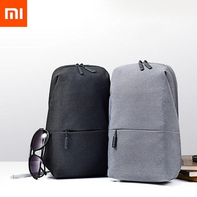 Original novo Xiaomi Mochila Saco Pacote de Peito para Homens Lazer Urbano Tipo Mochila Unisex para a Almofada Do Jogo Saco de Ombro Das Mulheres bolsa de viagem