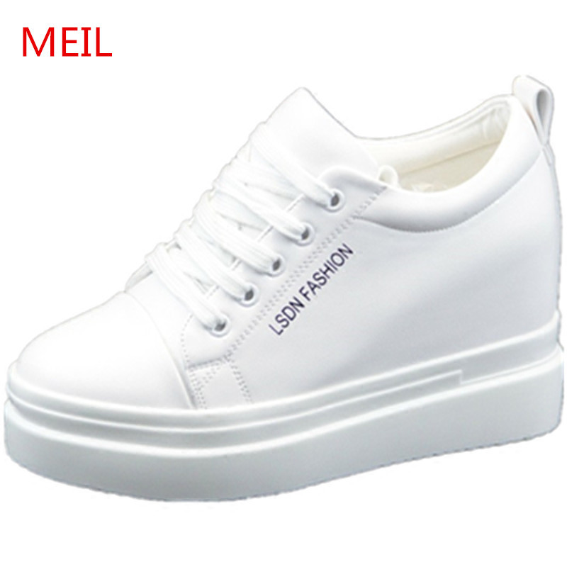 Spring Autumn White Black Platform Sneakers Shoes Woman Sneakers Casual Shoes Women Ladies Shoes Trainers Flats Zapatos Mujer in Women 39 s Flats from Shoes