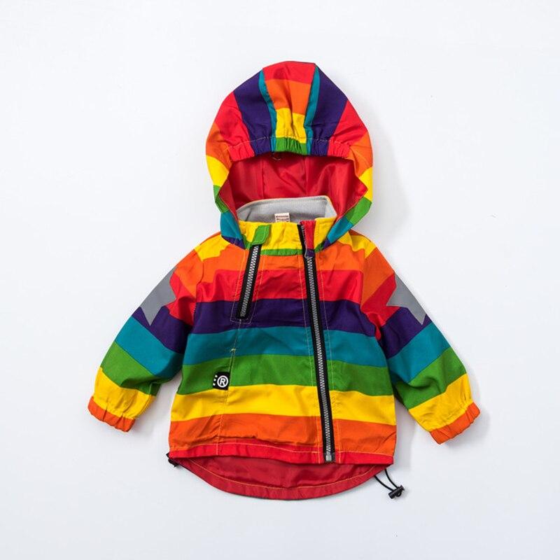 Baby Girl Jacket Boy Hooded Coat Solskyddsmedel Kläder Rainbow - Barnkläder - Foto 3